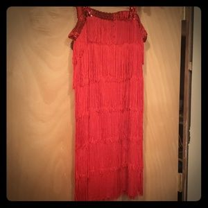 Dresses & Skirts - Cute red Gatsby dress 1920's sequins